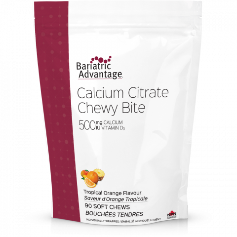 Calcium Citrate Chewy Bites 500mg (1 ½-month supply)