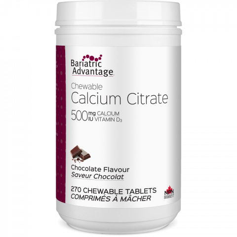 Chewable Calcium Citrate 500mg (4 ½-Month Supply)